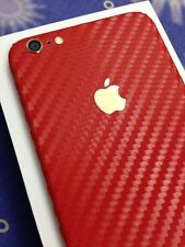 dbrand apple iphone 6s plus/6 plus (5.5) red carbon fibre back and side skin