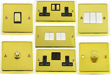 G&H Polished Brass Light Switches, Plug Sockets, Toggle & Dimmer Switches