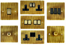 G&H Flat Plate Antique Bronze Light Switches, Plug Sockets & Dimmer Switches