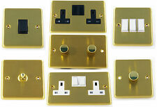 G&H Satin Brushed Brass Light Switches, Plug Sockets, Toggle & Dimmer Switches