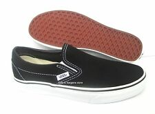 Vans Black White Classic Slip On Mens Womens Canvas Shoes Sneakers All Sizes