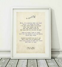 098 The Eagles - Take It Easy (v.2) - Song Lyric Art Poster Print - Sizes A4 A3