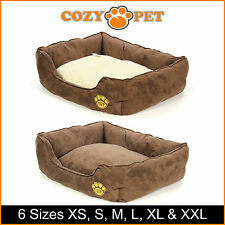 Cozy Pet Dog Bed 6 Sizes Dog Beds Puppy Bed Cat Bed Reversible Pillow Washable