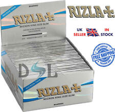 Genuine Rizla Silver Micron King Size Slim Thin Smoking Cigarette Rolling Papers