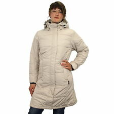 Jack Wolfskin Iceguard Coat Jacke Mantel Wintermantel Outdoor Damen Beige