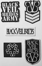 BLACK VEIL BRIDES  PATCHES SEW ON OR IRON ON CHOOSE FROM 5 DESIGNS