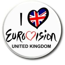 EUROVISION SONG CONTEST PARTY BADGES/ EUROVISION SWEEPSTAKE 2~ 55 MM/ 2.2 ""