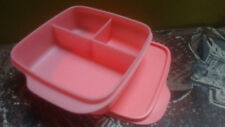 Tupperware Tiffin Lunch Storage Imported SCHOOL SQUARE KIDS DIVIDED DISH - 1 pc