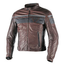 Dainese Blackjack Moto Giacca Pelle Uomo marrone sw in Vintage retrò Look