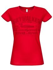 Star Wars - Skywalker And Son Girly T-Shirt (Red)