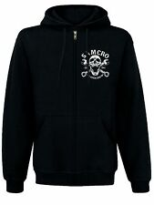 Sons of Anarchy SAMCRO Reaper Crew 1967 Zipped Hooded black