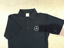 Polo Shirt with Mercedes Embroidered Logo