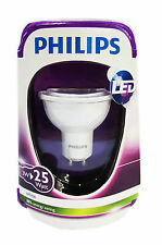 PHILIPS WHITH LAMPE LED GU10 SPOTSTRAHLER Spot 3 Watt WARMWEISS LEUCHTMITTEL