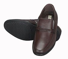Adamis Mens New Slip On Formal Shoes Wine Genuine Leather MG-1