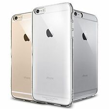 Apple iPhone 6 4.7 & 6 Plus Clear Crystal Hard / Gel Back Case Cover + Protector