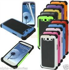 Shock Proof Dual Layer Silicone & Hard Case Cover 4 Samsung Galaxy S3 SIII i9300