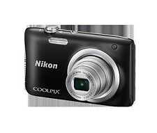 NIKON COOLPIX A100 (BLACK) WITH 8 GB SD CARD (class 10) AND CAMERA POUCH