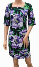 New Ladies Asos Floral Dress Purple Green Black 60s Style Summer Party Dress
