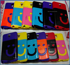 For Samsung Galaxy Note 3 Neo Glossy Dual Tone Soft Hard Back Hard Cover Case
