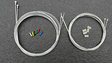 Road Racing Bike drop bars Gear & Brake Wire Cable Set +5 crimps + 5 donuts