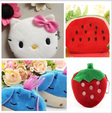 CUTE SOFT KIDS BOYS GIRLS COIN PURSE WALLET FLUFFY ANIMAL BIRTHDAY CHILDS GIFT