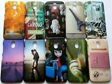 IMPORTED PRINTED HARD BACK NIGHT GLOW CASE COVER FOR HTC DESIRE 526G+ OR D526