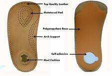 3/4 Faux Leather Footbed Arch Support Insoles - Metatarsal Pad