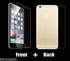 iPhone (Front and Back) - Tempered Glass Screen Protector /Scratch Guard