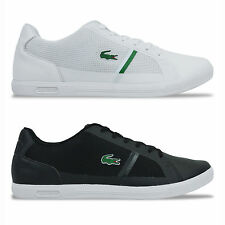 LACOSTE TRAINERS - LACOSTE STRIDEUR TRAINERS - WHITE/BLACK - BNWT