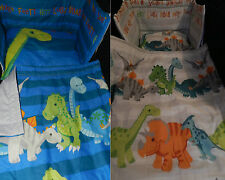NEW DINOSAUR - JUNIOR - SPACESAVER COT - COT or COTBED BEDDING SET
