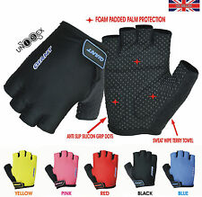 GIANT Cycling Cycle Bike Bicycle Half Finger Less Non slip Silicon GLOVES Mitts