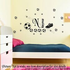 Football Boot Wall Stickers Personalized Name Removable Vinyl Decal Boy Room Art