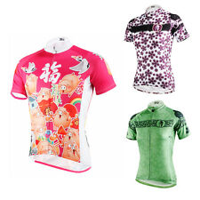 Women Summer Cycling Clothing Ropa Ciclismo Short Sleeve Bike Bicycle Jersey Top