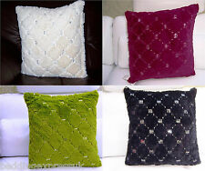 New Luxury Montana Sequin 100% Polyester Cushion Covers 18 x 18 inch /45 x 45cm