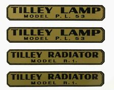 TILLEY LAMP DECAL STICKERS X246, AL21,TABLE MODEL, PL53, R1, R46, SDR, PL55,AL15