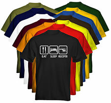 Eat Sleep Mens T-Shirt Eat Sleep Helicopter Size & Colour Options