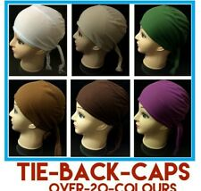 Women Ladies  Under Scarf Hijab Tie Back Bone  Bonnet Cap 14 Colours Stretchable