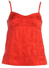 Marc By Marc Jacobs M191215 Silk Poppy Red Top Blouse
