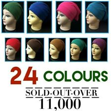 Women Ladies  Under Scarf Hijab Tube Bone  Bonnet Cap 14 Colours Stretchable