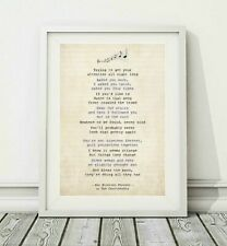 149 Courteeners - Not Nineteen Forever - Song Lyric Poster Print - Sizes A4 A3
