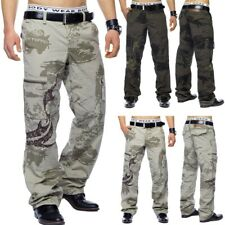 Cargo Hose Armee Loose Fit Cargohose Work Trousers Braun Beige Baggy Camouflage