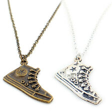 Funky CONVERSE Silver Shoe Ladies Men Necklace Pendant Chain Rock Emo Cool Gift