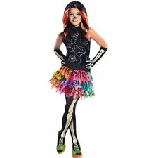 SKELITA Calaveras MONSTER ABITO HIGH SCHELETRO HALLOWEEN RAGAZZE FANCY COSTUME