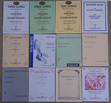 SHEET MUSIC & BOOKLETS FOR THE VOICE & PIANO, BARITONE, HIGH , MEDIUM, SOPRANO