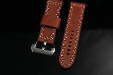 Banda Double stitched Tan Leather Watch Strap for Panerai