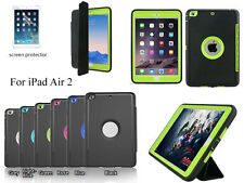Tri-Fold Magnetic Smart Shockproof Heavy Duty Hard Case Cover for IPad Air 2