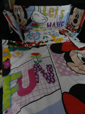 NEW MINNIE MOUSE ( LETS HAVE FUN) SPACESAVER`COT OR COTBED BUMPER  SET