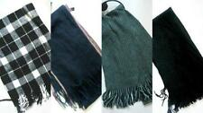 MENS WINTER SCARVES, KNIT AND FLEECE BLUE GREY BLACK NEW