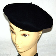 Beret Black & Dark blue Wool felt Inner lining Brand quality Basque new