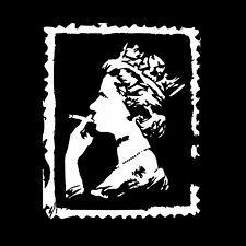 The Queen Smoking Spliff On A Stamp Vintage Mens Ladies T-Shirts Vests S-XXL